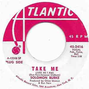 Solomon Burke - I Stayed Away Too Long / Take Me (Just As I Am) mp3 album
