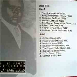 Blind Lemon Jefferson - Cat Man Blues mp3 album