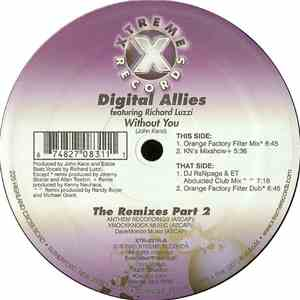 Digital Allies Featuring Richard Luzzi - Without You (The Remixes Part 2) mp3 album