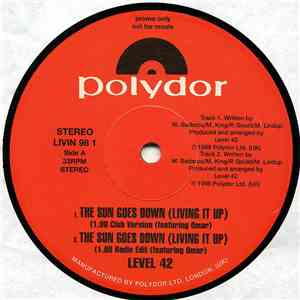 Level 42 - The Sun Goes Down (Living It Up) mp3 album