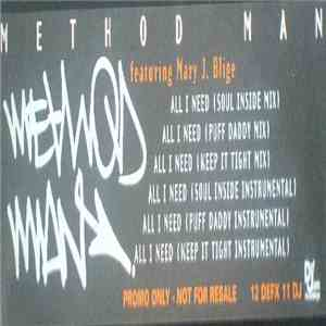 Method Man Featuring Mary J. Blige - All I Need mp3 album