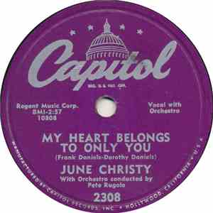 June Christy - My Heart Belongs To Only You mp3 album